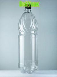 Бутылка ПЭТ 1,5л с крышкой (50шт) прозр